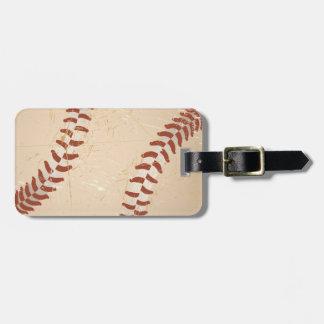baseball vintage bag tag