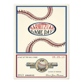 Baseball Vintage Retro 5.5 x 7.5 Bar Mitzvah 5.5x7.5 Paper Invitation Card