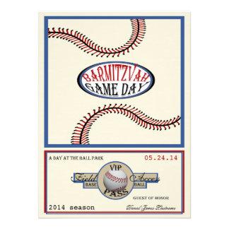 Baseball Vintage Retro 5.5 x 7.5 Bar Mitzvah Invites