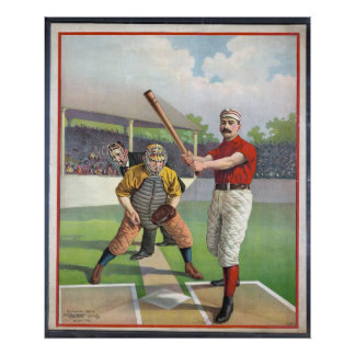 Baseball Vintage Sport  Print Posters