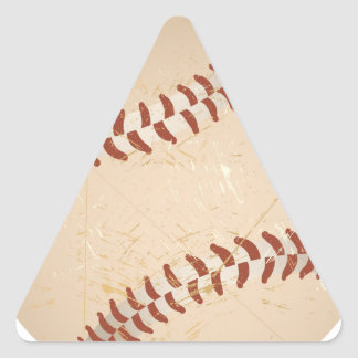 baseball vintage triangle sticker