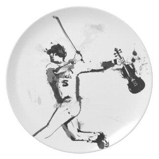 Baseball Violinist Melamine Plate