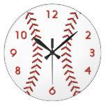 Baseball Wall Clock