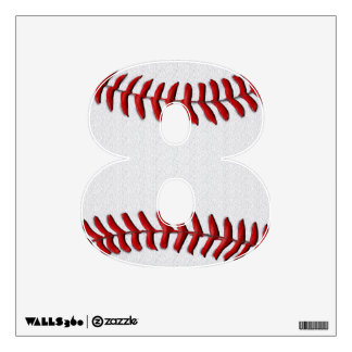 Baseball Wall Decals for Kids YOUR Jersey NUMBER