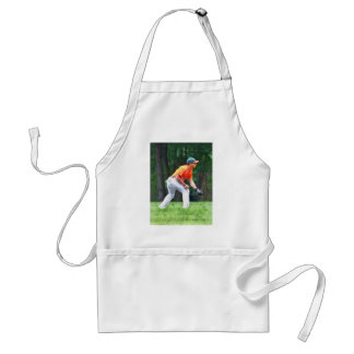 Baseball - Warming Up Before the Game Adult Apron
