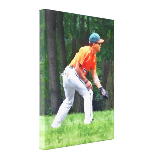 Baseball - Warming Up Before the Game Canvas Prints