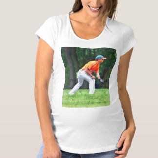 Baseball - Warming Up Before the Game Maternity T-Shirt