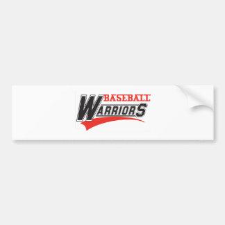 baseball warriors design bumper sticker