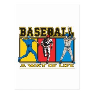 Baseball Way of Life Postcard