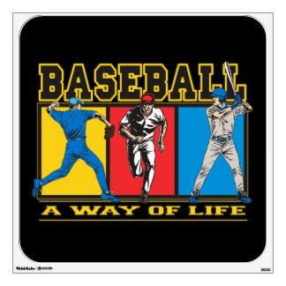 Baseball Way of Life Wall Sticker