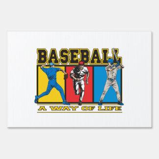 Baseball Way of Life Yard Sign