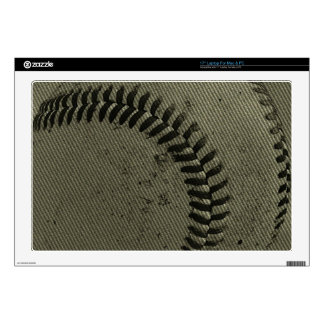 """baseball weave decal for 17"""" laptop"""