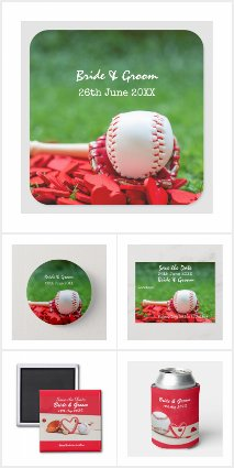 Baseball Wedding Cards and Party Supplies
