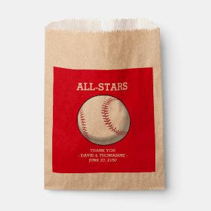 Baseball Theme Themed Wedding Favor Bags | Zazzle
