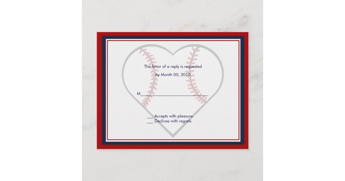 Baseball Wedding Invitation: Baseball Wedding Invitation Reply Cards