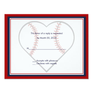 Baseball Wedding Invitation reply cards