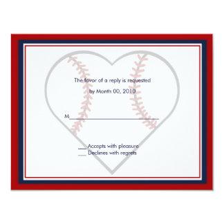 Baseball Wedding Invitation reply cards