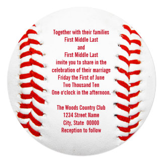 Baseball Wedding Invitations & Announcements | Zazzle
