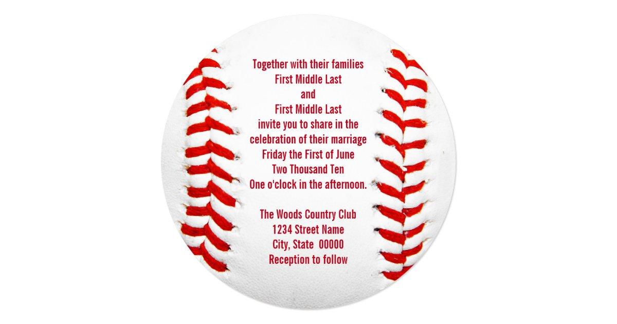 Baseball Wedding Invitation: Baseball Wedding Invitations