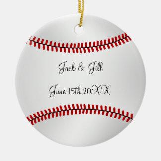 Baseball wedding Ornament