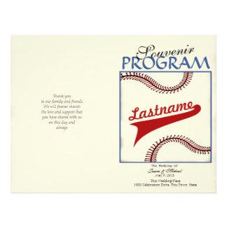 Baseball Wedding Program
