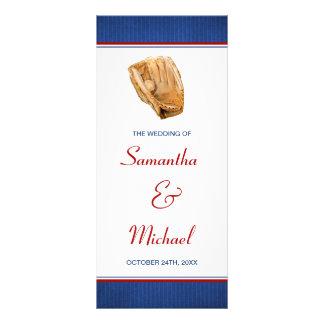 Baseball Wedding Program Customized Rack Card