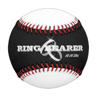 Baseball wedding ring bearer gift idea for boy