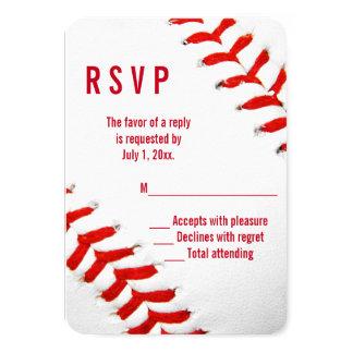 Baseball Wedding RSVP Card