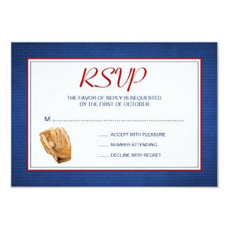 Baseball Wedding RSVP Response Card