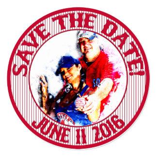 Baseball Wedding Save-The-Date-HOWARD,Option 1 Card