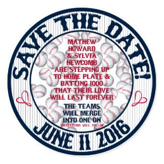 Baseball Wedding Save-The-Date-HOWARD,Option 2 Card