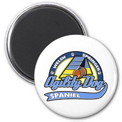 Baseball Welsh Springer Spaniel Agility 2 Inch Round Magnet