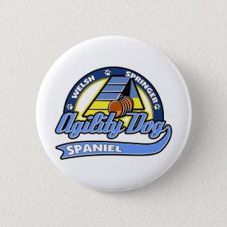 Baseball Welsh Springer Spaniel Agility Pinback Button