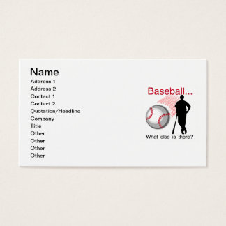 Baseball What Else T-shirts and Gifts Business Card