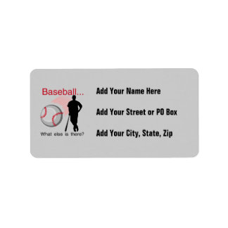 Baseball What Else T-shirts and Gifts Address Label