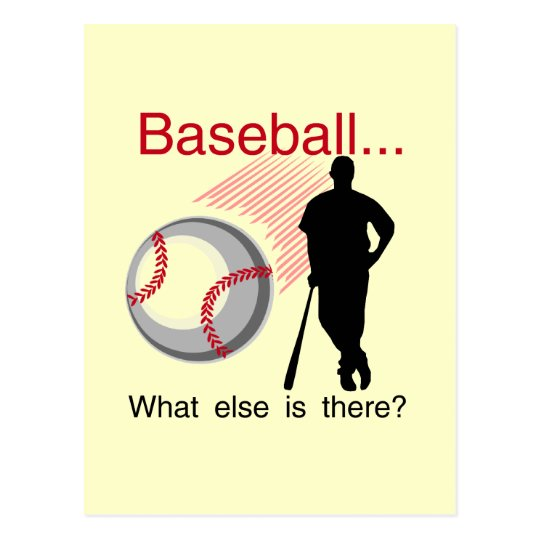 Baseball What Else T-shirts and Gifts Postcard