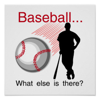 Baseball What Else T-shirts and Gifts Poster