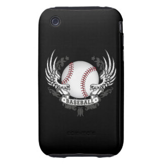 Baseball Wings iPhone 3 Tough Cases