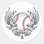 Baseball Wings Sticker