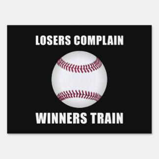 Baseball Winners Train Sign