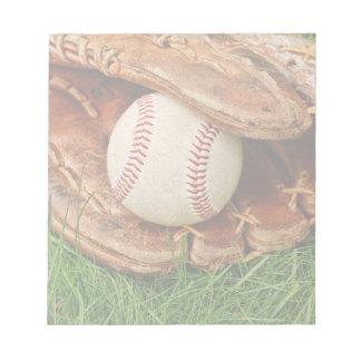 Baseball with an Old Mitt Notepad