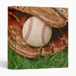 Baseball with an Old Mitt Photo Album 3 Ring Binder