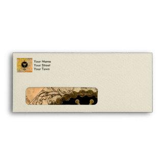Baseball with baseball bat envelope