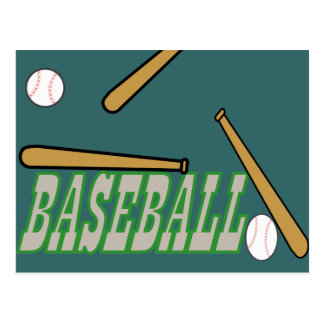 Baseball with Bat n Ball Postcard