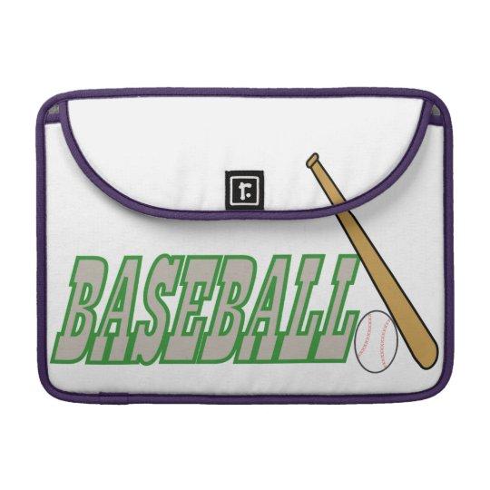 Baseball with Bat n Ball Sleeve For MacBooks