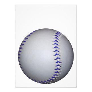 Baseball With Blue Stitches Custom Invite