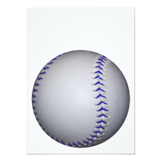 Baseball With Blue Stitches 5.5x7.5 Paper Invitation Card