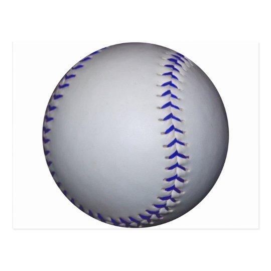 Baseball With Blue Stitches Postcard