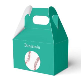 Baseball with Custom Name - Emerald Favor Box