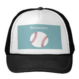Baseball with Custom Name - Light blue Trucker Hat